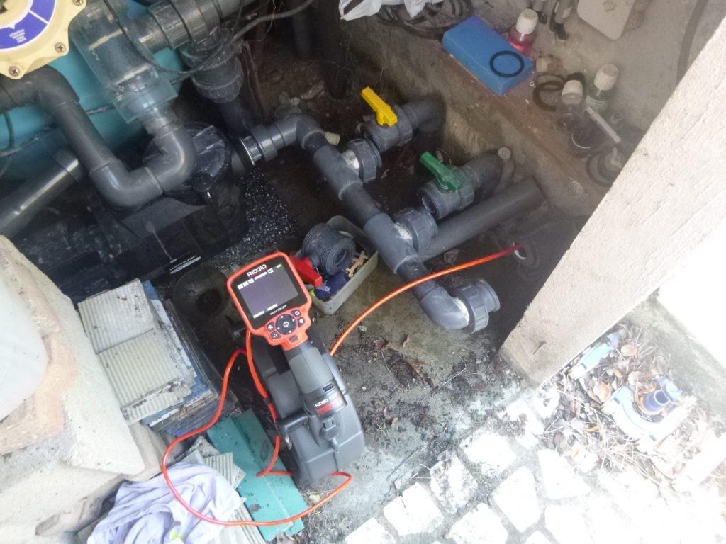 inspection vidéo tuyau piscine